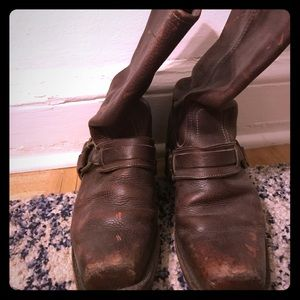 Brown Frye Harness boots